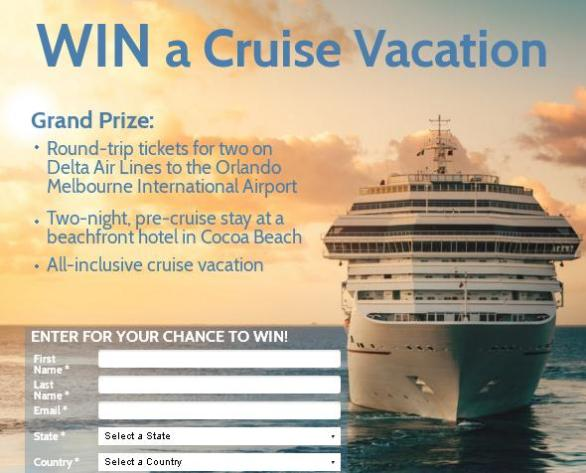 MSP Communications and Florida's Space Coast - Cruise Vacation Giveaway | Sweepstakes | Enter and Chance to Win
