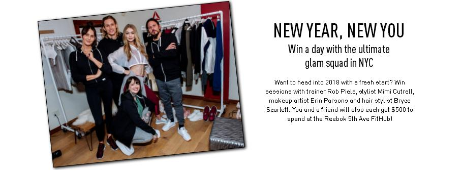 Reebok - New Year New You Sweepstakes   Enter For Chance To Win