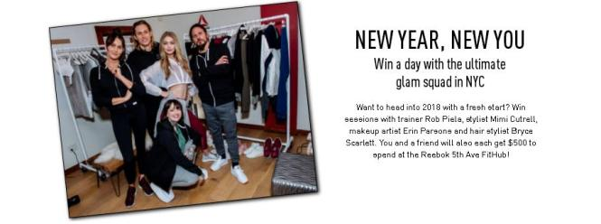 Reebok - New Year New You Sweepstakes | Enter For Chance To Win