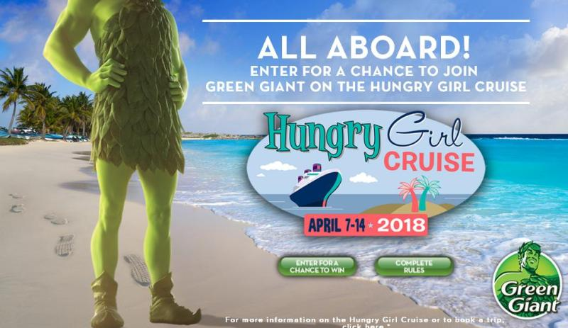 Green Giant Sweepstakes - Enter A Chance To Win Hungry Girl Cruise