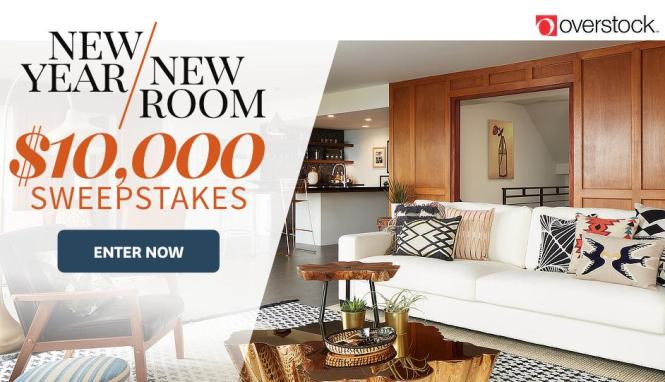 Meredith New Year New Room Sweepstakes – Stand Chance to Win $5000 Cash and a $5,000 Overstock e-Gift Card