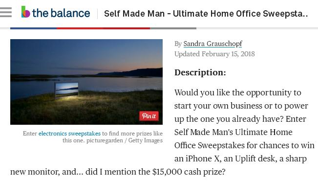 Self Made Man Ultimate Home Office Sweepstakes – Stand Chance to Win $15,000 Cash, iPhone X, MacBook Pro, Monitor and Microphone