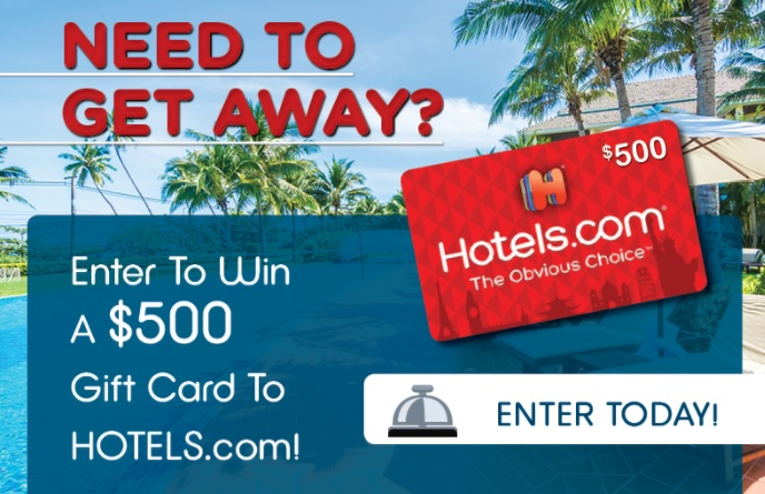SmartStop Get Away Giveaway – Enter For Chance To Win $500 Gift Card To Hotels.com