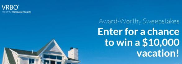 VRBO Award Worthy Sweepstakes - Chance to Win $5,000 for A Vacation Rental