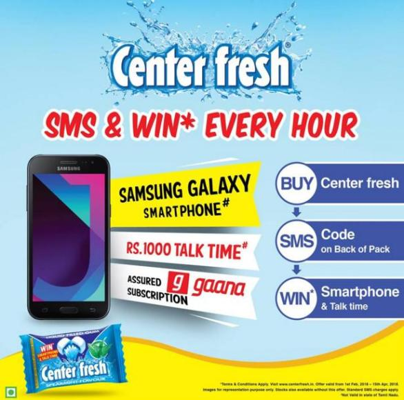 Center Fresh SMS And Win Contest – Stand Chance to Win Samsung Galaxy J2 Smartphone