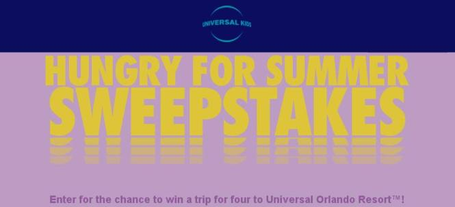 Universal Kids Hungry for Summer Sweepstakes – Stand Chance to Win a Trip to Universal Orlando Resort