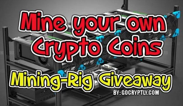 $1200 Mining Rig For Crypto Currency Giveaway – Stand Chance to Win A Mining Rig