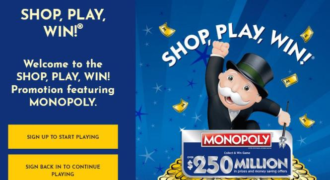 Safeway SHOP, PLAY, WIN MONOPOLY Collect & Win Game Sweepstakes – Stand Chance to Win Cash, $10,000 iHeartRadio Jingle Ball Prizes