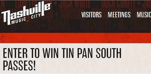 Nashville CVB - 2018 Tin Pan South Songwriters Festival Sweepstakes-Enter To Chance Win 2 Passes To The Tin Pan South Songwriters Festival, Two Night Hotel Accommodations at Holiday Inn Value $1850