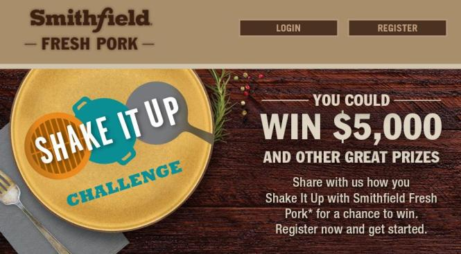 The Smithfield Shake It Up Challenge Sweepstakes – Stand Chance to Win $5,000, $100 Debit Card, Meal Package