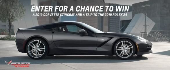 20th Anniversary of Corvette Racing Sweepstakes - Win A 2019 Chevy Corvette Stingray and a trip to the 2019 Rolex 24