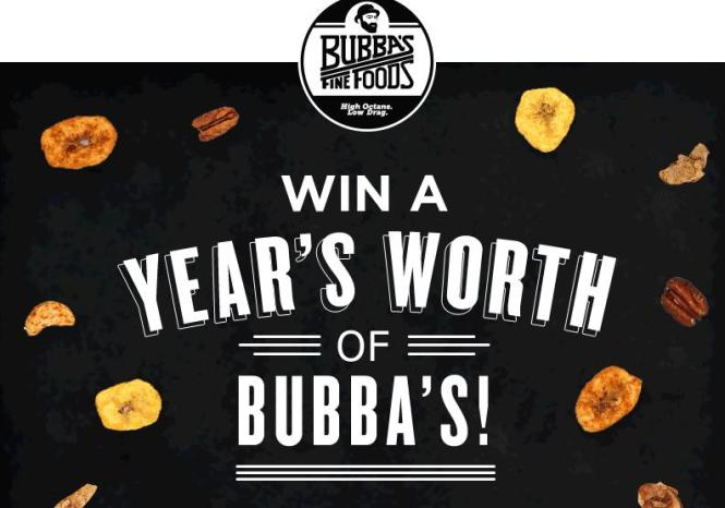 Ultimate Bubba's Giveaway Sweepstakes – Stand Chance to Win a Full Family Variety Pack each Month for 12 Months
