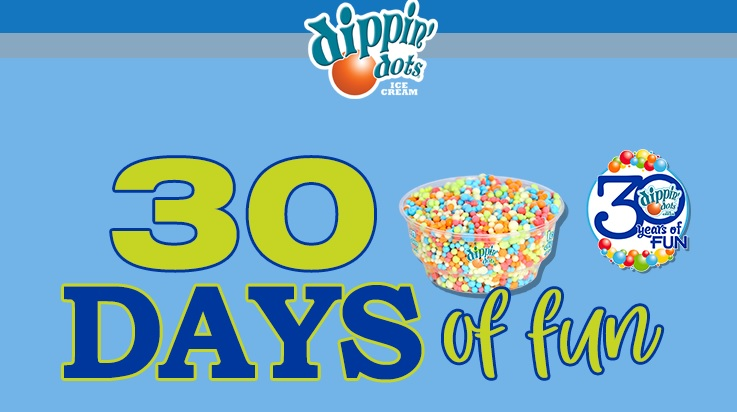 Dippin' Dots Thirty Days of Fun Sweepstakes - Enter To Win a FREE Home Delivery of Dippin' Dots