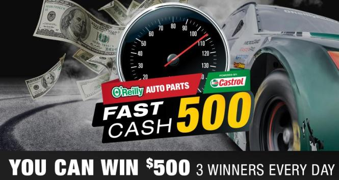 Fast Cash 500 Sweepstakes – Stand Chance to Win $500 VISA Gift Cards, $100 O'Reilly Gift Cards