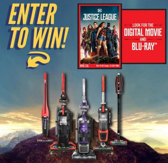 Dirt Devil Justice League Sweepstakes– Stand Chance to Win a Free Digital Download of Justice League and a Free Vacuum from Dirt Devil