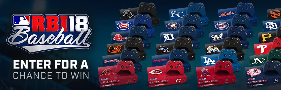 MLB R.B.I. Baseball 18 Opening Day Sweepstakes - Chance To Win One Xbox One S, Xbox One Game