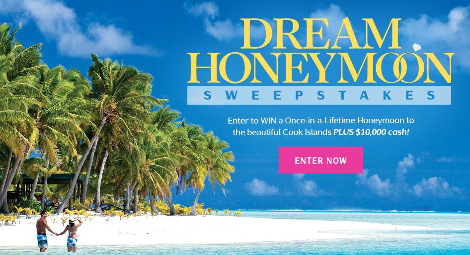 Martha Stewart Weddings - Enter To WinA Once In A Lifetime Honeymoon To The Beautiful Cook Islands PLUS $10,000 Cash