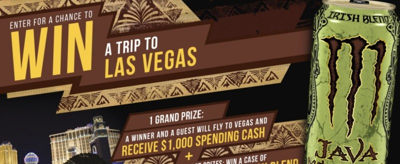 Monster Energy Company Java Monster Sweepstakes - Enter To Win A Trip To Las Vegas, Nevada
