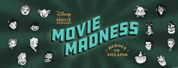 Disney Movie Madness Heroes vs. Villains Sweepstakes – Stand Chance to Win DMR Points and a USD $10 Disney Gift Card Prizes