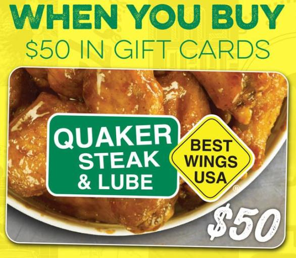 Quaker Steak & Lube Spring Bonus Instant Win Game - Enter To Win $500 Visa Gift Card