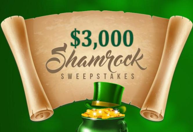 $3000 Shamrock Sweepstakes – Stand Chance to Win US$3,000 Cash