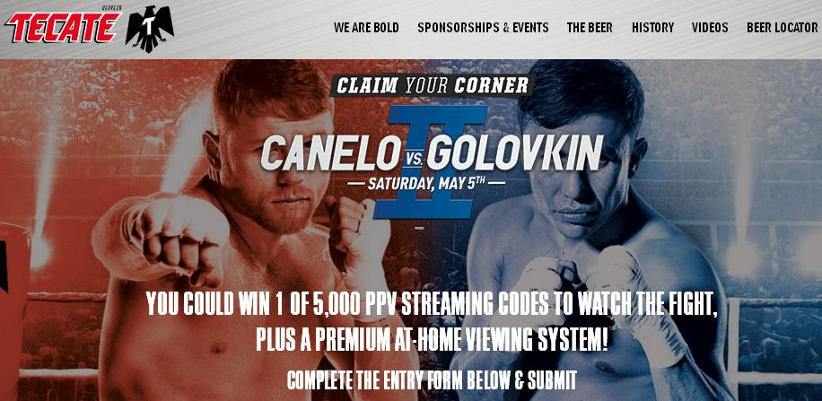 Tecate May 2018 Fight Sweepstakes – Win Smart TV, Boxing