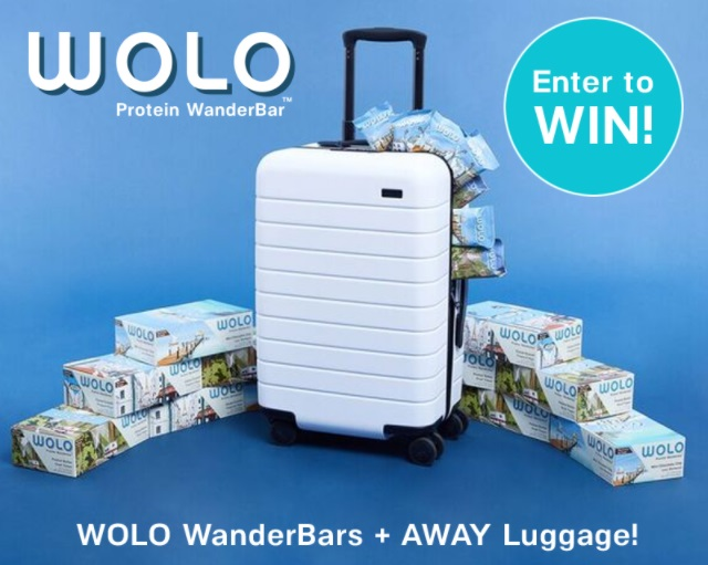 WOLODreamDestination Giveaway - Chance To Win Carry On Luggage And Year Supply Of WOLO Snacks