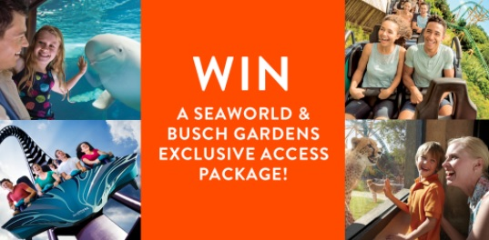 Win SeaWorld Orlando & Busch Gardens Exclusive Access Vacation Package