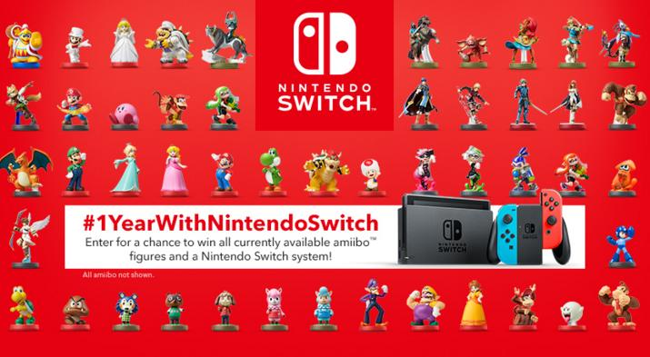 Nintendo Canada 1 Year With Nintendo Switch Contest – Stand Chance to Win Nintendo Switch System