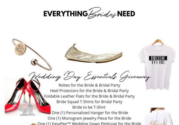Everything Brides Need Wedding Day Essentials Giveaway - Enter For Chance To Win Prize Package