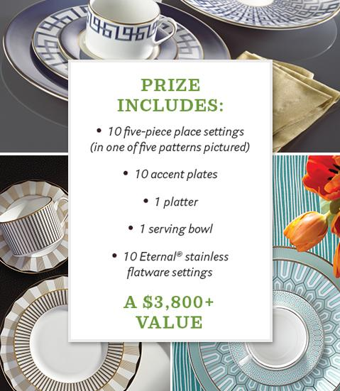 House Beautiful Lenox Sweepstakes - Enter To Win A Table Setting For 10
