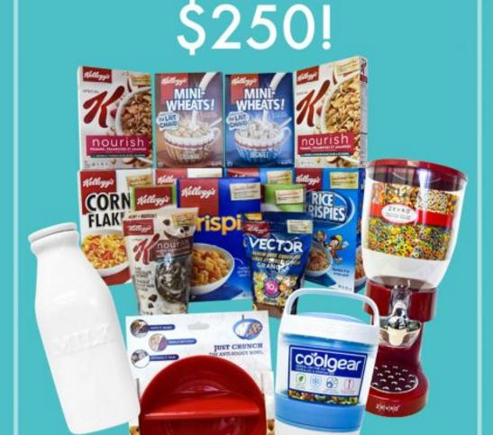 The Kit Contest - Chance to Win a Kelloggs Prize Pack consisting of Cereal Kitchen tools, Valued at $250