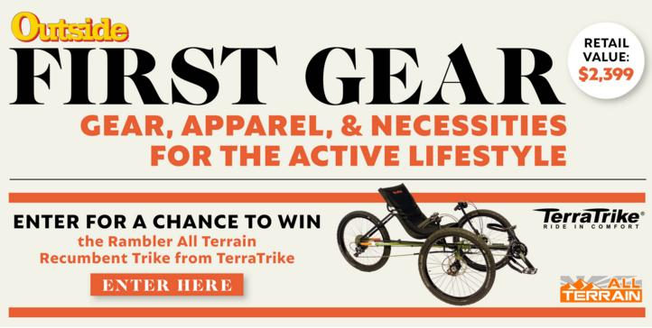 Outside Magazine April First Gear Sweepstakes – Stand Chance to Win A TerraTrike Rambler All Terrain Recumbent Trike
