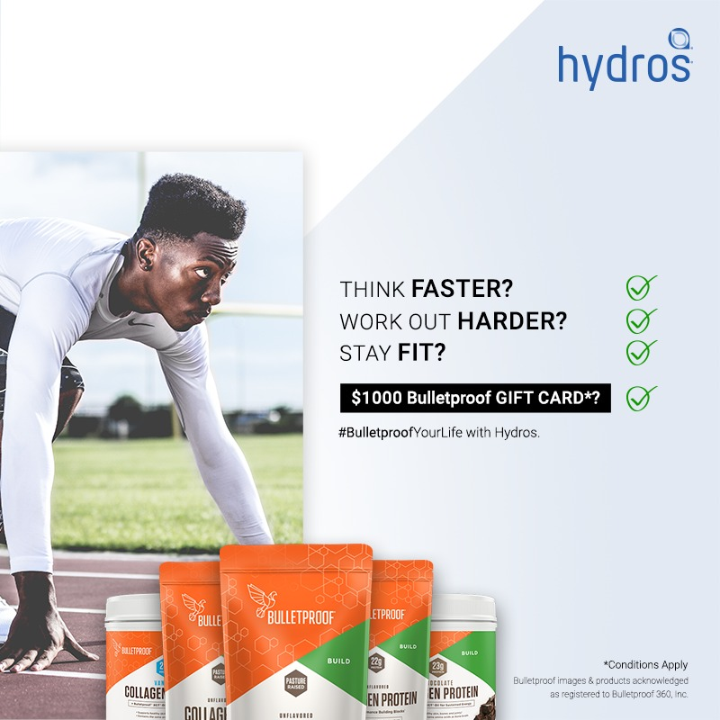 Hydros Bulletproof Giveaway-Chance To Win $1000 Bulletproof Gift Card