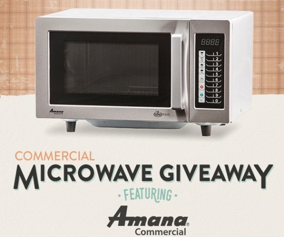 Tundra Restaurant Supply Giveaway-Stand To Win One Amana 1000 Watt Commercial Microwave Oven