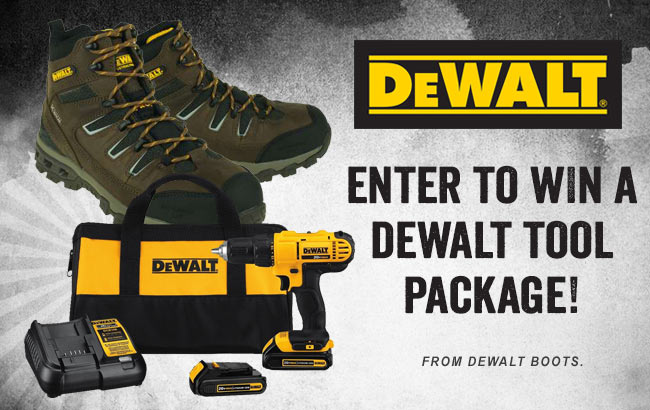 Dewalt Boots Tool Set Giveaway-Chance To Win A Tool Package