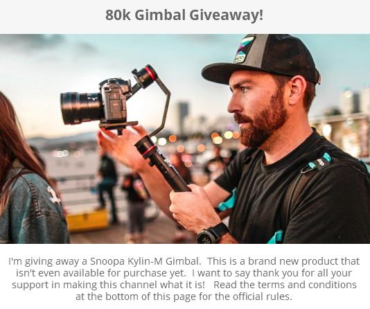 80k Gimbal Giveaway – Stand Chance to Win A Snoopa Kylin-M Gimbal Prize