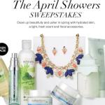 The April Showers Sweepstakes - Stand Chance to Win Day Cream, Night Gel Cream, Body Lotion, Parfum, Shower Gel, Necklace and Earring Set and Multi-Tone Skin Corrector