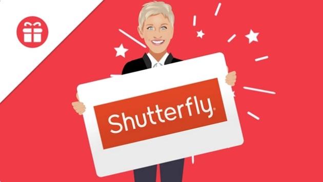 Ellen Degeneres Show Shutterfly Giveaway