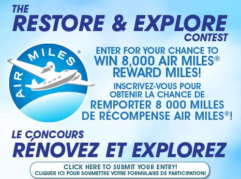 FloorsFirst The Restore & Explore Contest – Stand Chance to Win One 8,000 AIR MILES Reward Mile