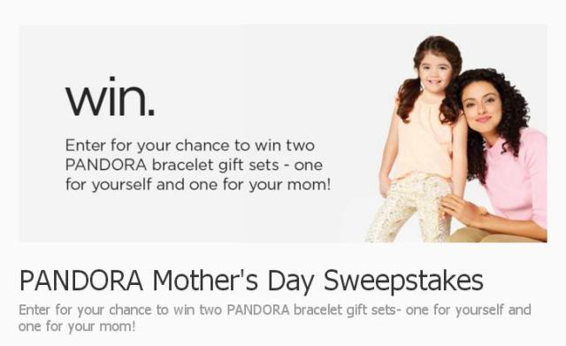PANDORA Mother's Day Sweepstakes – Stand Chance to Win PANDORA In My Heart Bracelet Gift Sets