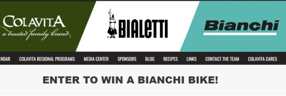 Colavita Bianchi Bike Sweepstakes-Chance To Win A Bianchi Bicycle