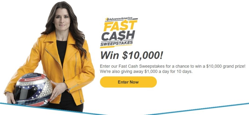Advance America Fast Cash Sweepstakes-Chance To Win A $10,000 Grand Prize, $1,000 A Day For 10 Days