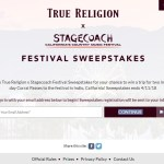 True Religion x Stagecoach Sweepstakes - Enter To Win A Trip For Two to Indio, California, Passes to Stagecoach Festival 2018
