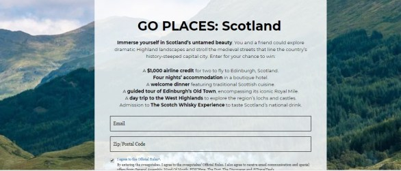 General Assembly Go Places Scotland Giveaway-Stand To Win Trip To Edinburgh, Scotland