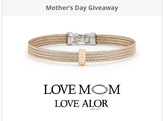 Mother's Day Giveaway-Chance To Win Carnation Cable, 18kt Rose Gold
