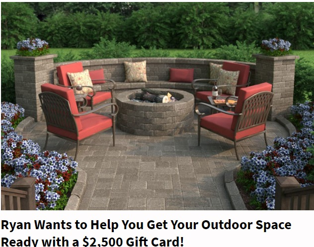 Ryan Seacrest's Outdoor Space $2500 Sweepstakes – Win $2,500 Gift Card