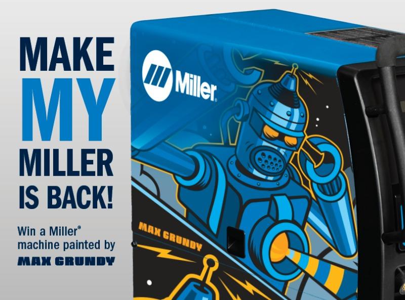 2018 Miller We Build Make My Miller Sweepstakes-Win A Miller Machine, Multimatic 215 multiprocess welder with TIG kit, Maxstar 161 STH TIG/stick welder