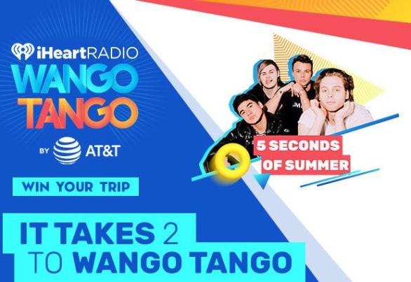 5 Seconds of Summer IT TAKES 2 TO WANGO TANGO Sweepstakes – Stand Chance to Win A Trip Two To Los Angeles For Wango Tango