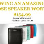 Bose Bluetooth Speaker Giveaway – Stand Chance to Win An Amazing Bose Speaker Prize